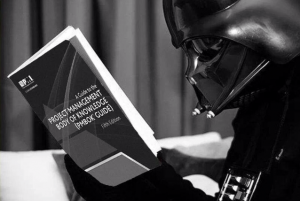 Vader reading up on Project Management
